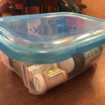 Plastic tub for storing additional bottles of medication