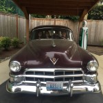 A vintage car in the garden at Aegis used to engage long term memory