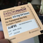 Exelon patch cannot be touched during application
