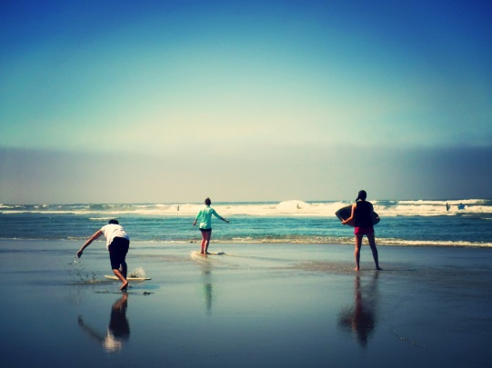 I love skimboarding at Cannon Beach, Oregon